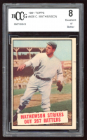 Christy Mathewson 1961 Topps #408 (BCCG 8) at PristineAuction.com