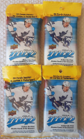 Lot of (4) 2020-21 Upper Deck MVP Hockey Packs with (34) Cards at PristineAuction.com