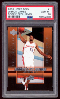 LeBron James 2003-04 Upper Deck Rookie Exclusives #1 RC (PSA 10) at PristineAuction.com
