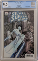 "2019 ""Silver Surfer Black"" Issue #1 Zeck Variant Marvel Comic Book (CGC 9.0) at PristineAuction.com"