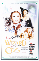 "Jerry Maren, Mickey Carroll & Karl Slover Signed ""The Wizard Of Oz"" 11x17 Movie Poster (JSA COA) at PristineAuction.com"