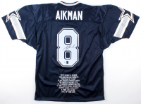 Troy Aikman Signed Career Highlight Stat Jersey (AAA Hologram & Aikman Hologram) at PristineAuction.com