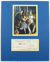 """Jack Haley Signed """"The Wizard Of Oz"""" 15.75x20 Custom Matted Check Display With Photo (JSA COA) at PristineAuction.com"""