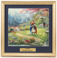 "Thomas Kinkade Walt Disney's ""Mulan"" 16.75x16.75 Custom Framed Print Display at PristineAuction.com"
