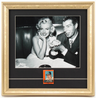 Joe DiMaggio & Marilyn Monroe 14x14 Custom Framed Photo Display with Original Joe DiMaggio Restaurant Matchbook at PristineAuction.com