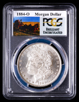 1884-O Morgan Silver Dollar - Stage Coach Label (PCGS Brilliant Uncirculated) at PristineAuction.com