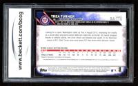 Trea Turner 2016 Topps Chrome Rookie Autographs #RATTU (BCCG 10) at PristineAuction.com
