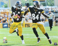 Antonio Brown & LeVeon Bell Signed Steelers 16x20 Photo (JSA COA) at PristineAuction.com