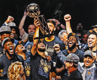 Stephen Curry Signed Warriors 20x24 Photo (Steiner Hologram) at PristineAuction.com