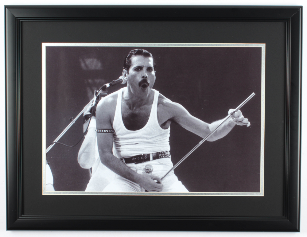 "Freddie Mercury ""Queen"" 19.5x25.5 Custom Framed Photo at PristineAuction.com"