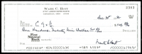 Waite Hoyt Signed Personal Bank Check (JSA COA) at PristineAuction.com