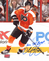 """Chris Pronger Signed Flyers 8x10 Photo Inscribed """"All The Best!"""" (YSMS COA) at PristineAuction.com"""