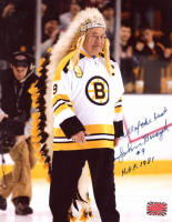 "Johnny Bucyk Signed Bruins 8x10 Photo Inscribed ""All of the Best"" & ""H.O.F. 1981"" (YSMS COA) at PristineAuction.com"