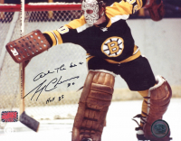 "Gerry Cheevers Signed Bruins 8x10 Photo Inscribed ""All The Best"" & ""HOF 85"" (YSMS COA) at PristineAuction.com"