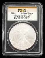2005 American Silver Eagle $1 One Dollar Coin (PCGS Brilliant Uncirculated) at PristineAuction.com