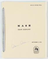 """Alan Alda Signed """"M.A.S.H."""" Episode Script (JSA COA) at PristineAuction.com"""