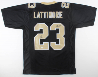 "Marshon Lattimore Signed Jersey Inscribed ""Who Dat!"" (JSA COA) at PristineAuction.com"