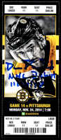 """David Pastrnak Signed Hockey Ticket Inscribed """"NHL Debut """"11/24/14"""" (YSMS COA) at PristineAuction.com"""