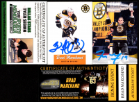 Lot of (2) Signed Bruins Items with Brad Marchand 2012-13 O-Pee-Chee Retro #281 & Tyler Seguin Trading Card (YSMS COA) at PristineAuction.com