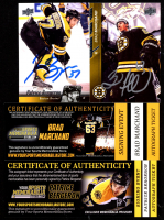 Lot of (2) Signed Cards with Patrice Bergeron 2010-11 Upper Deck #181 & Brad Marchand 2015-16 Upper Deck #14 (YSMS COA) at PristineAuction.com