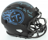 "Kevin Dyson Signed Titans Eclipse Alternate Speed Mini Helmet Inscribed ""Music City Miracle 01/08/00""  (JSA COA) at PristineAuction.com"