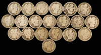 Lot of (20) Barber Silver Quarters at PristineAuction.com