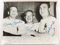 Mickey Mantle, Allie Reynolds & Johnny Mize Signed Yankees 11x14 Original Wire Photo (JSA LOA) at PristineAuction.com