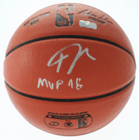 "Giannis Antetounmpo Signed NBA Game Ball Series Basketball Inscribed ""MVP 18"" (Radtke COA) at PristineAuction.com"