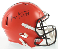 "Ozzie Newsome Signed Browns Full-Size Speed Helmet Inscribed ""HOF 99"" (JSA COA) at PristineAuction.com"