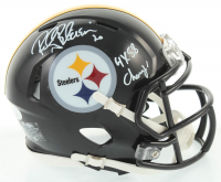 "Rocky Bleier Signed Steelers Speed Mini-Helmet Inscribed ""4x SB Champ!"" (JSA COA) at PristineAuction.com"