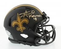 Alvin Kamara Signed Saints Eclipse Alternate Speed Mini Helmet (Beckett COA) at PristineAuction.com