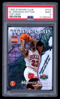 Michael Jordan 1996-97 Stadium Club Top Crop #TC9 Michael Jordan / Gary Payton (PSA 9) at PristineAuction.com