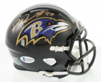 Patrick Queen Signed Ravens Speed Mini Helmet (Beckett COA) at PristineAuction.com