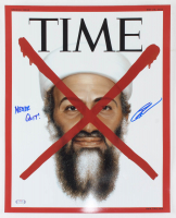 "Robert J. O'Neill Signed Time Magazine 16x20 Photo Inscribed ""Never Quit!"" (PSA COA) at PristineAuction.com"