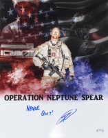 "Robert J. O'Neill Signed ""Operation Neptune Spear"" 16x20 Photo Inscribed ""Never Quit!"" (PSA COA) at PristineAuction.com"