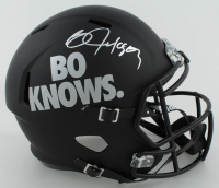 Bo Jackson Signed Full-Size Matte Black Speed Helmet (Beckett COA) at PristineAuction.com