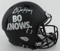 "Bo Jackson Signed ""Bo Knows"" Full-Size Custom Matte Black Speed Helmet (Beckett COA) at PristineAuction.com"
