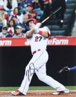 Mike Trout Signed Angels 11x14 Photo (PSA COA) at PristineAuction.com