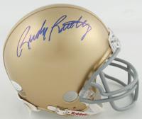 Rudy Ruettiger Signed Notre Dame Fighting Irish Mini-Helmet (JSA COA) at PristineAuction.com