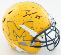 Frank Clark Signed Michigan Wolverines Full-Size Authentic On-Field Hydro-Dipped Helmet (JSA COA) at PristineAuction.com