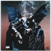"Travis Scott Signed ""Birds in the Trap Sing McKnight"" Vinyl Record Album Inscribed ""Hi Ebay!"" (PSA Hologram) at PristineAuction.com"