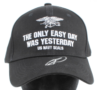 "Rob O'Neill Signed ""The Only Easy Day Was Yesterday"" Navy Seals Hat (PSA COA) at PristineAuction.com"
