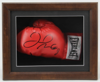 Floyd Mayweather Jr. Signed 13x16x5 Custom Framed Boxing Glove Shadowbox Display (JSA COA) at PristineAuction.com