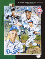 1997 National Baseball Hall of Fame and Museum Yearbook Signed By (28) with Sandy Koufax, Ted Williams, Tom Seaver, Pee Wee Reese, Yogi Berra, Stan Musial, Whitey Ford, Johnny Bench, Lou Brock (PSA LOA) at PristineAuction.com