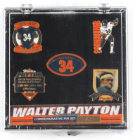 Walter Payton Bears Commemorative LE Pin Set With Case at PristineAuction.com