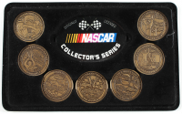 Set of (7) Brass NASCAR Coin Display at PristineAuction.com