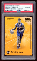 Zion Williamson 2019-20 Hoops Arriving Now Winter #2 RC (PSA 10) at PristineAuction.com