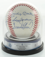 500 Run Club OAL Baseball Signed by (11) by Mickey Mantle, Ernie Banks, Hank Aaron, Reggie Jackson, Ted Williams, Harmon Killebrew (BGS Encapsulated) at PristineAuction.com