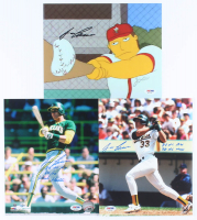Lot of (3) Jose Canseco Signed 8x10 Photos with Multiple Inscriptions (PSA COA) at PristineAuction.com