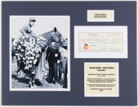 Eddie Arcaro Signed 14x18 Custom Matted Personal Bank Check Display (SOP COA) at PristineAuction.com